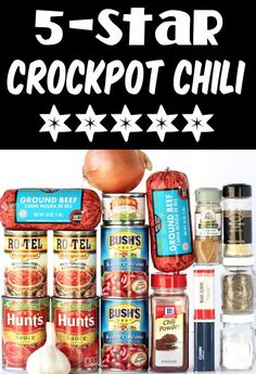 Crockpot Chili RecipeEasy Simple Healthy Soup! Move over meatless Monday… it's time for a cozy bowl of the best chili ever! If you're looking for the next winner of your chili cook-off, this Easy Chili is IT!! Go grab the recipe and give it a try this week... Delicious Crockpot Recipes, Chili Recipes, Slow Cooker Recipes, Soup Recipes, Crockpot Dishes, Crockpot Meals, Chili Cook Off, Fall Recipes, Frugal Recipes