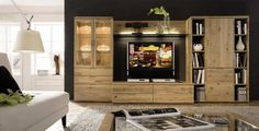 ikea wall unit  | Tv Wall Units: Solid Oak and Contemporary Beech wall Decorating Ideas ...
