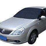 #10: Aedo Car Windshield Sun Shade Cover PVC Foldable Windshield Snow Protector Dust Protector for SUV Car Truck Black
