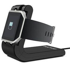Infiland Fitbit Blaze Charger Fitbit Blaze Charging Dock Station Holder Charging Clip Premium Plastic Bracket Charger USB Cable for Fitbit Blaze Fitness Smartwatch-Black