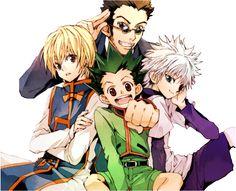 Render Hunter x Hunter - Renders Hunter x Hunter Gon Killua Kurapika Leorio manga