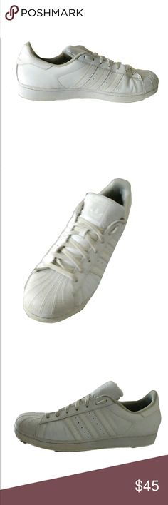 premium selection 482bf 69bf1 Shop Men s adidas White size 13 Sneakers at a discounted price at Poshmark.  Description  In good condition light wear only size Sold by Fast delivery,  ...
