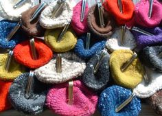 Clutch Purses - Woven and felted www.janecummins.co.uk