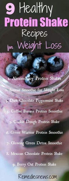9 Healthy Protein Shake Recipes for Weight Loss: Almond Joy Protein Shakes. 9 Healthy Protein Shake Recipes for Weight Loss: Almond Joy Protein Shakes.Sunrise Smoothie for Wei Banana Protein Smoothie, Healthy Protein Shakes, Chocolate Protein Shakes, Protein Shake Recipes, Smoothie Recipes, Healthy Recipes, Healthy Smoothies, Healthy Fruits, Juice Recipes