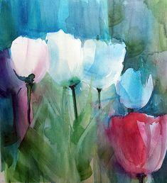 Tulpen, Aquarell Hans-Jakob Bopp