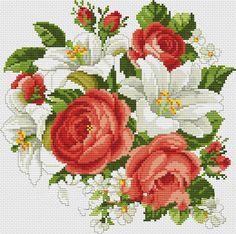 Kanaviçe Çiçek Örnekleri (1)