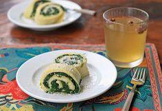Pinattipannukakku- Finnish Gluten-Free Rolled Spinach Pancake