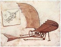 Drawing of Flying Machine by Leonardo Da Vinci