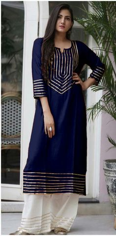 Free COD and shipping with Easy Return Catalog Name: Striking Rayon Kurti and Plazzo Sets Det. Salwar Designs, Kurta Designs Women, Kurti Designs Party Wear, Neck Designs For Suits, Sleeves Designs For Dresses, Dress Neck Designs, Blouse Designs, Stylish Dress Designs, Stylish Dresses