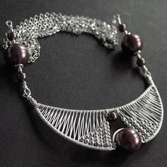 Egyptian Moon by Anna Mroczek - Exclusive Jewelry. Beautiful wire-wrapped jewellery on her blog.