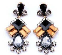 1 Pair New Elegant Women Vintage Style Fashion Rhinestone Dangle Stud Earrings | eBay