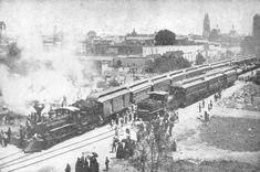Llegada del primer ferrocarril, 15 de mayo de 1888. Provenía de la Ciudad de México.