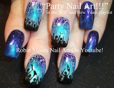 "Robin Moses Nail Art: ""New Year's Eve Nail Art""  fireworks July 4th"