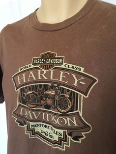 9e6531f2 HARLEY-DAVIDSON OFFICIAL Graphic Tee San Juan Capistrano, CA Brown M Made  in USA