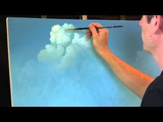 ▶ Painting Clouds with Tim Gagnon, A Time Lapse Speed Landscape Painting with Acrylic - YouTube