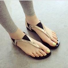 new 2014 summer shoes woman sandals for women flats Fashion Slippers Wedges sandal casual  Girl women pumps Herringbone flip A19 US $9.90