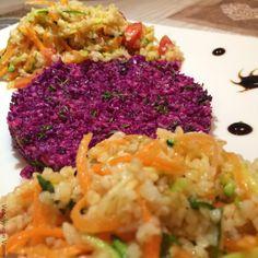 Insalata di bulgur con tartare di cavolo cappuccio viola