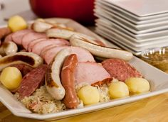 The Culinary Institute of America Food Enthusiasts :: Sauerkraut with Smoked Pork, Sausage, Frankfurters, and Potatoes