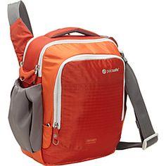 CamSafe Venture V8 Anti-Theft Camera Shoulder Bag Sunset Red $130 but in black