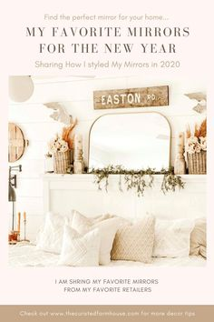 Favorite Mirror Roundup Pinterest Graphic Farmhouse Style Bedding, Farmhouse Chairs, Farmhouse Living Room Furniture, Farmhouse Wall Art, Farmhouse Bedroom Decor, Bedroom Decor On A Budget, Bedroom Decor Lights, Bedroom Decor For Teen Girls, Apartment Bedroom Decor