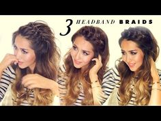 Headband Braids Tutorial Gallery 3 easy peasy headband braids quick hack hairstyles for Headband Braids Tutorial. Here is Headband Braids Tutorial Gallery for you. Headband Braids Tutorial four strand headband braid. Braided Hairstyles Tutorials, Quick Hairstyles, Everyday Hairstyles, Headband Hairstyles, Pretty Hairstyles, Headband Braids, Holiday Hairstyles, Hair Tutorials, Braid Headband Tutorial
