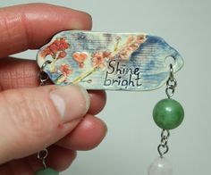 Mantra bracelet Shine bright Cherry blossom by GirlwithaFrogTattoo
