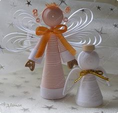 Quilled Angels  <3 these but as far as quilling goes I may only try it to make this ONE angel.