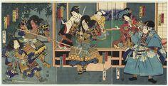 Confrontation between Samurai by Kunisada II (1823 - 1880)