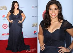 America Ferrera in Carlos Miele | 2012 ALMA Awards « The Fashion Court