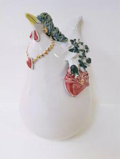 Handgefertigtes Unikat aus Keramik, Crazy Chick, Dekoration, Garten Jewelry, Lawn And Garden, Dekoration, Jewlery, Jewerly, Schmuck, Jewels, Jewelery, Fine Jewelry