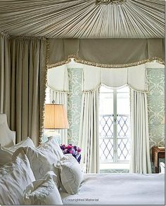 REpin from #TheCurtainExchange - Alexa Hampton #Canopy #Beds