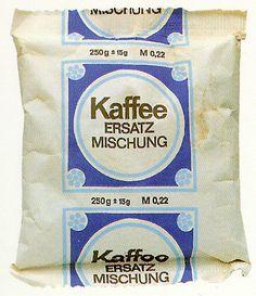 """Kaffee Ersatz Mischung"" - 250 g +- 15 g - EVP M 0,22 ---- Coffee ersatz *made in 'GDR *"