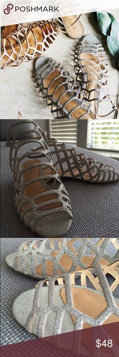 Free People Schutz Cosmopolitan Glitter Sandals Brand new in box. Glitter design. Free People Shoes Sandals