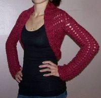 Crochet shell pattern shrug
