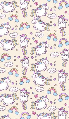 unicorn, wallpaper, and rainbow image Unicorn digital paper, digital paper pack, unicorn…art background beautiful beauty blue clouds colorful…♡ – – – Unicornios Wallpaper, Kawaii Wallpaper, Pattern Wallpaper, Wallpaper Backgrounds, Unicorn Wallpaper Cute, Cute Unicorn, Rainbow Unicorn, Unicorn Party, Cute Backgrounds