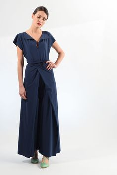 Convertible Dress. Lycra Sensitive jumpsuit with wide neckline. It can be worn front and back and closing the side wings in front or behind you can get at least four different outfits.Composi...