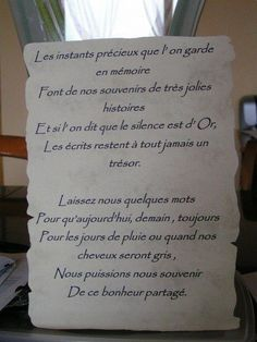 Petit mot pour livre d'or … Robes, Really Nice, Quote, Robe