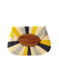 Opal Multi-Color Raffia Clutch. So summery.