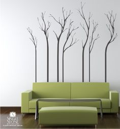 Wall Decals Trees - A Walk in the Woods (Free Shipping) - Vinyl Wall Stickers Art. $145.00, via Etsy.