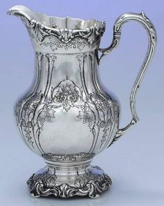 RICHELIEU Pattern, Sterling Silver Hand Chased Pitcher . FOR SALE. https://estatesilver.com/index.php?route=product/product&product_id=350