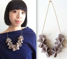 Fabric Origami Necklace