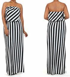 Plus size dresses maxi dress high quality black&white cocktail party dress 14-20