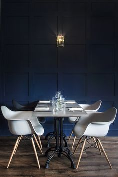 Cameo Club Cardiff #Bistro #Dining #InteriorInspiration #Bar #WallPanelling