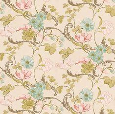 Dolls House Wallpaper 1/12e of 1/24e schaal kwaliteit papier Beige Floral…