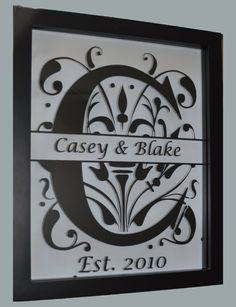 Splitletter Custom Floating Frame with Names and by CaseysBoutique, $22.00