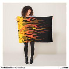 Kustom Flames Fleece Blanket