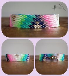 Bracelet Peyote Delica seedbead la conception originale de la