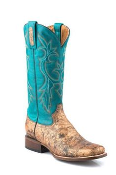 Roper Square Toe Faux Python Belly Embossed Exotic Leather Collection Boots Urban