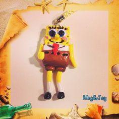 Fimo Spongebob Key Charms - jaymegfimo
