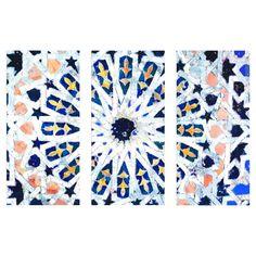 Azahar Triptych Canvas Print, Oliver Gal